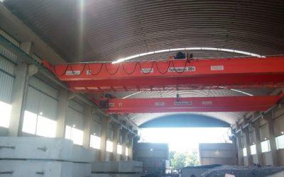 BKH 20t / 19m kétfőtartós híddaru gyártása, telepítése